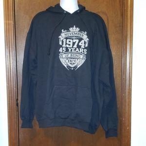 Jerzees Nublend sweatshirt. Black